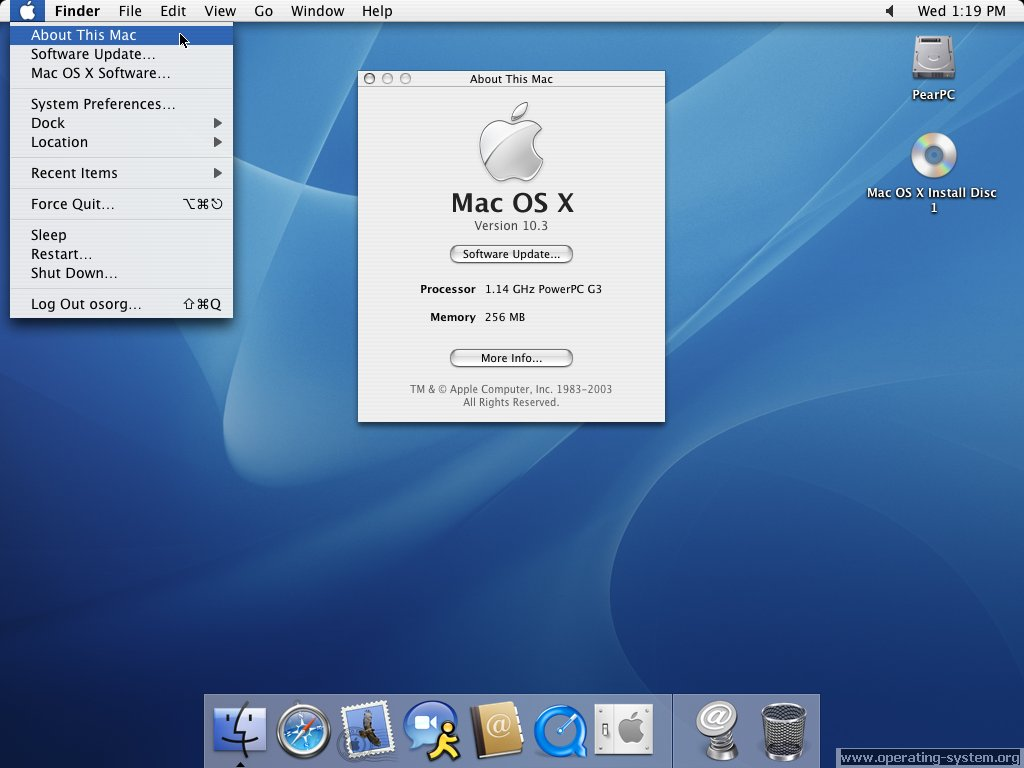 Mac os betriebssystem for Innenarchitektur mac os x