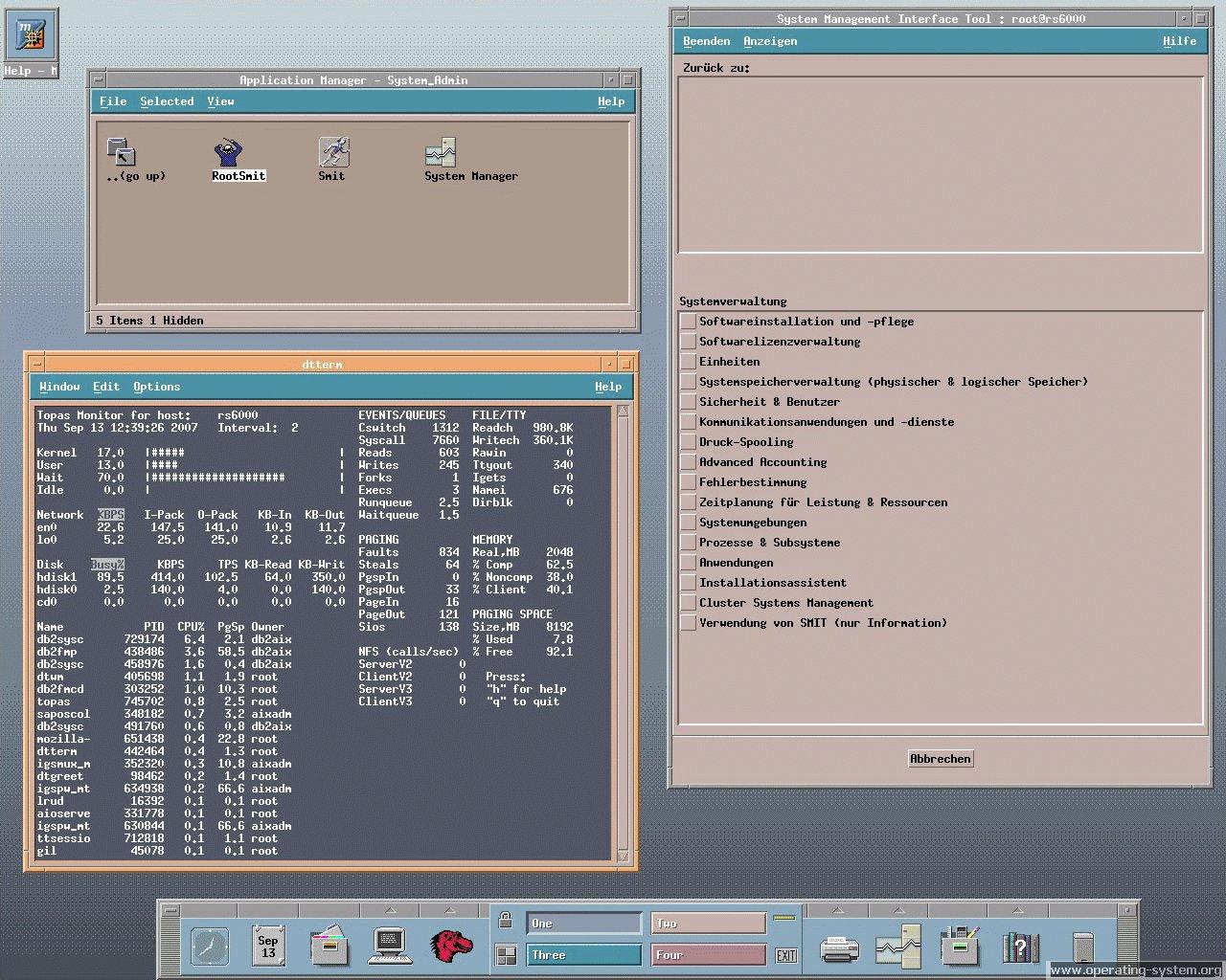 Operating System Screenshot: ibm aix aix53 03