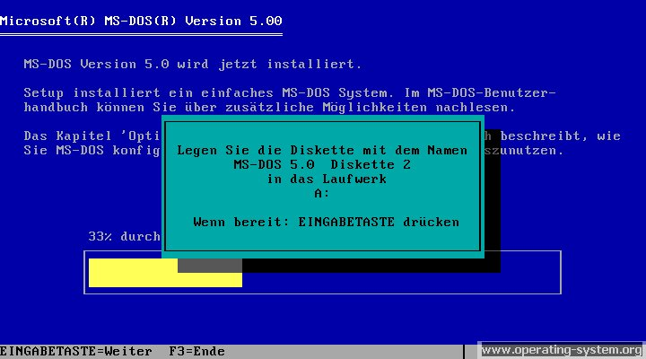 operating system screenshot  microsoft msdos msdos50 05