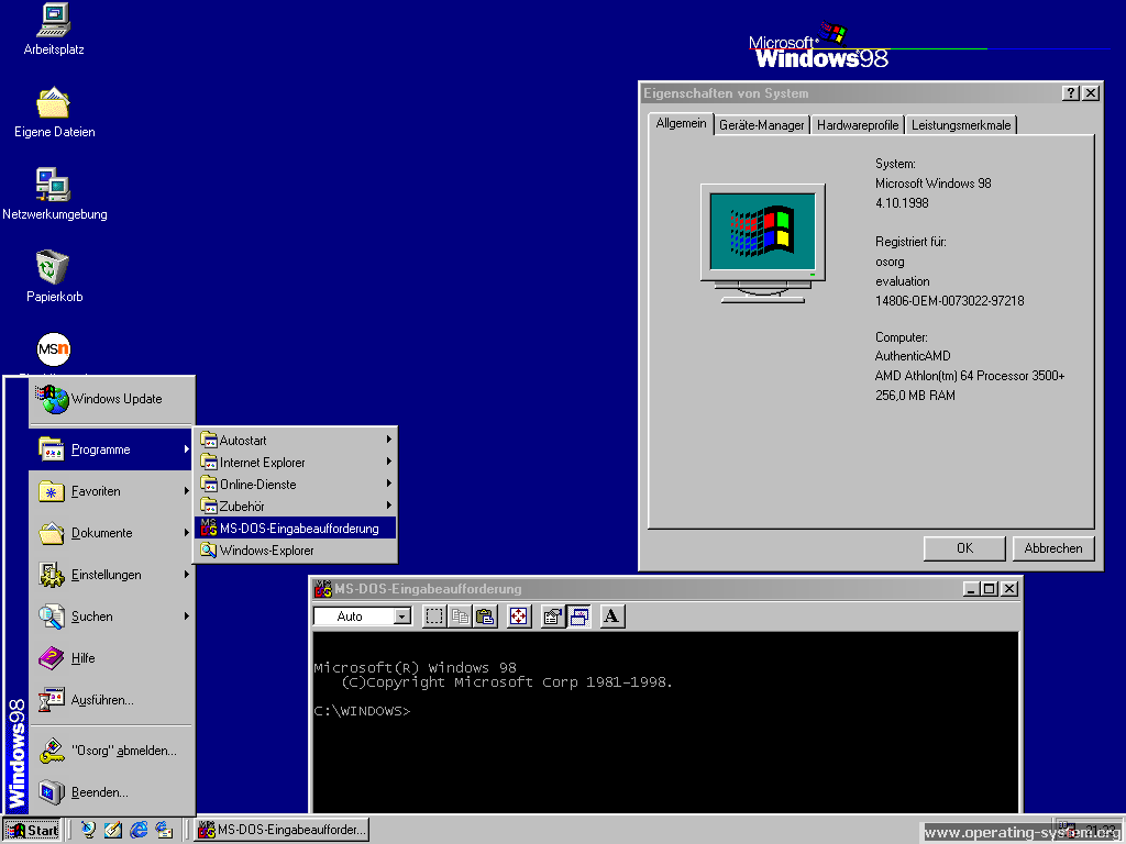 a report on microsofts windows 98 operating system Windows 95 remains most popular operating system although windows 98 was only available from microsoft in the second half of last year.