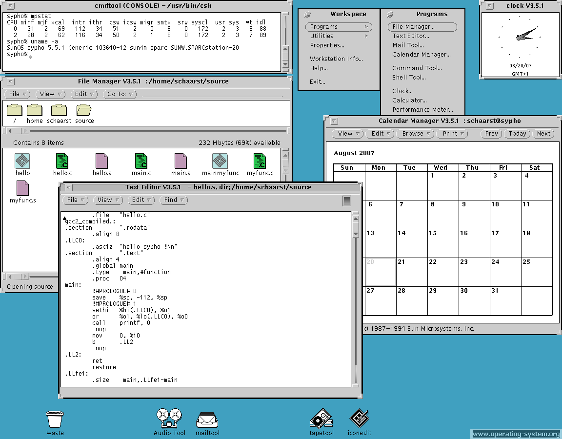 Screenshot: sun sunos sunos551 ow1 02